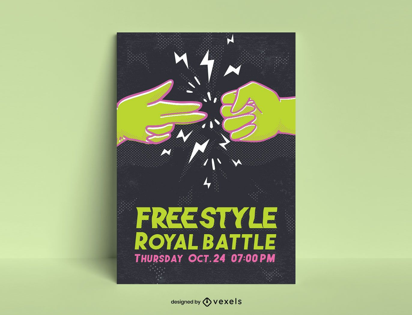 Freestyle battle poster template