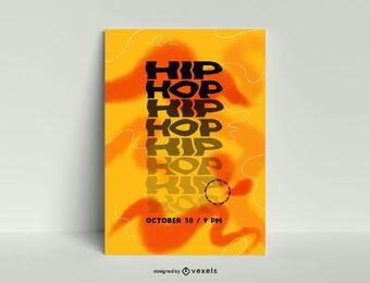 Modelo de pôster de hip hop