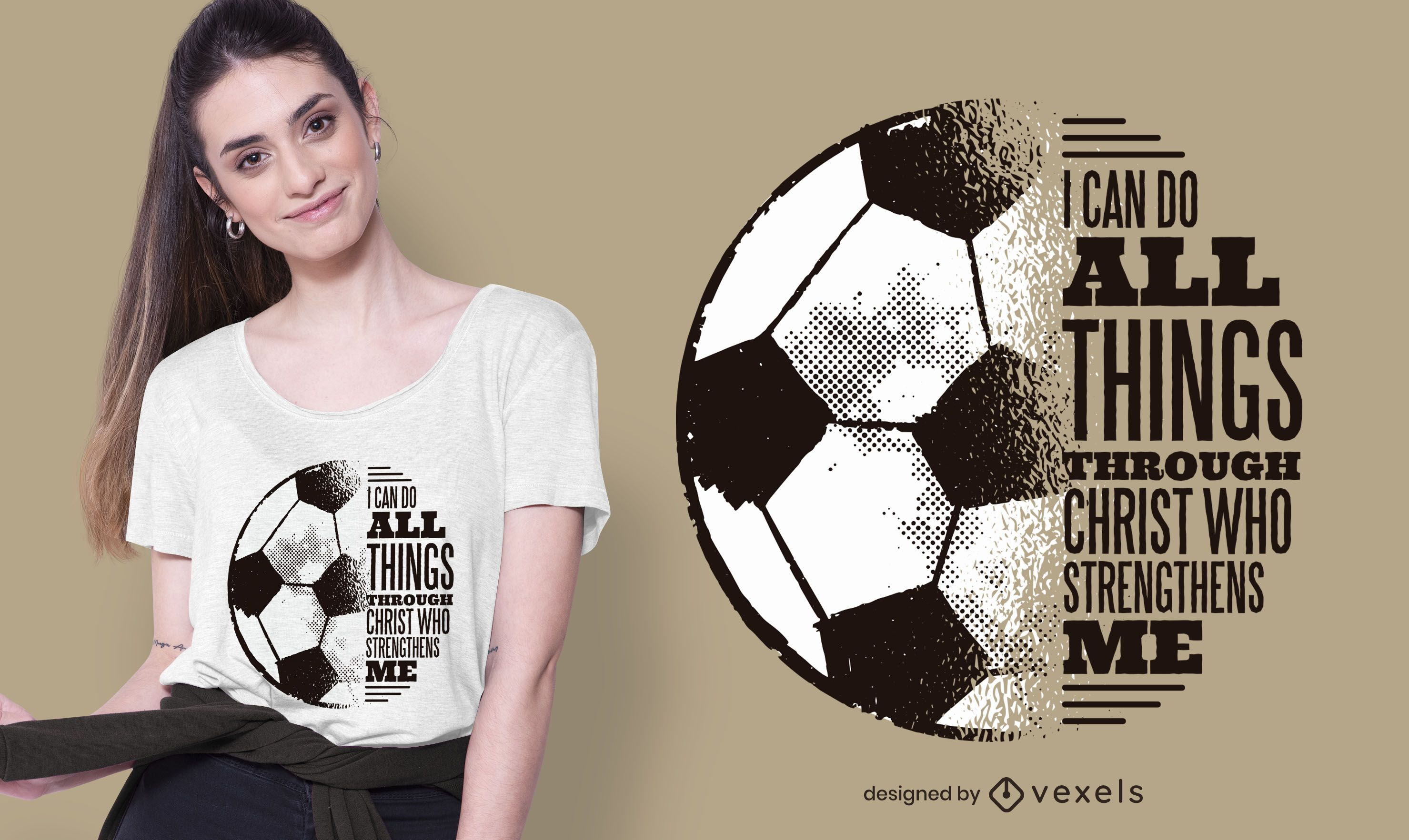 Diseño de camiseta de fútbol cristo cita