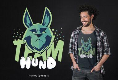 Design de camisetas da equipe hund