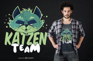Design de camisetas da equipe Katzen