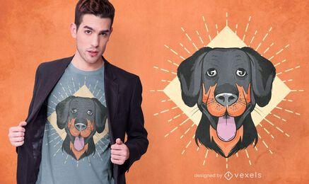 Diseño de camiseta de cara de perro divertido