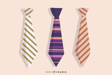 Vector Business Tie Set