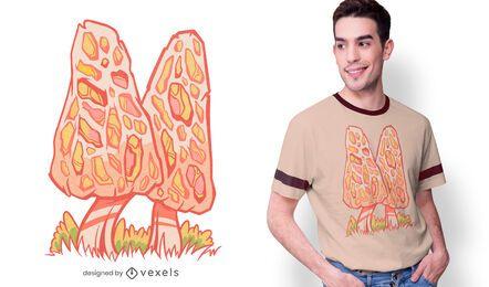 Morel mushrooms t-shirt design