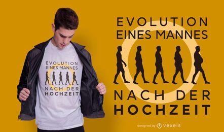 Evolución después del diseño de la camiseta del matrimonio.