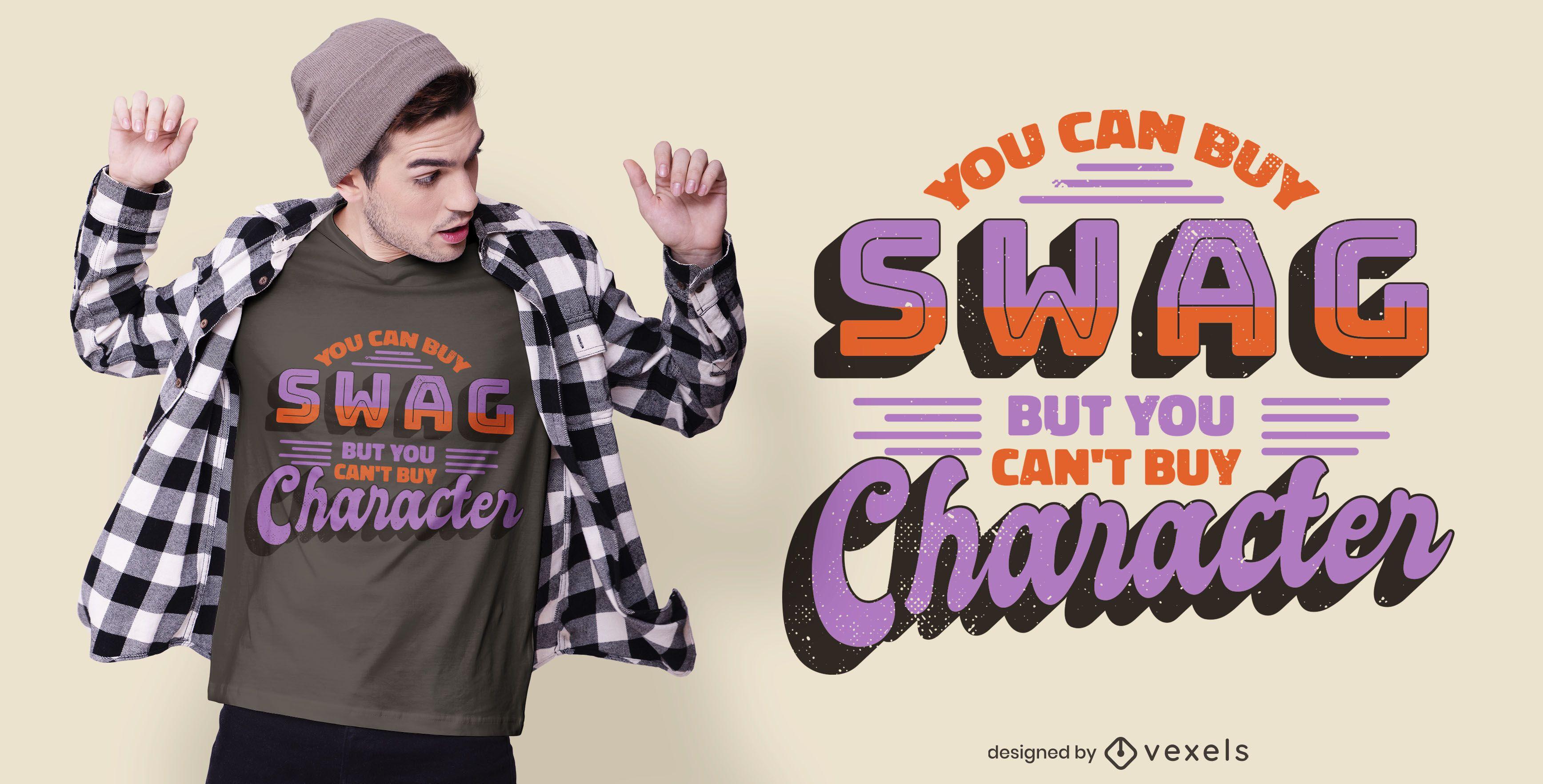 Swag character t-shirt design