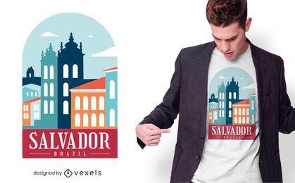 Diseño de camiseta salvador brasil
