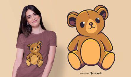 Design de t-shirt de urso de peluche fofo