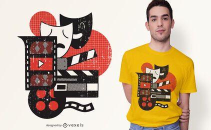 Diseño de camiseta de actuación abstracta