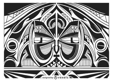 Desenho de fundo tribal