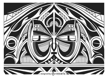 Tribal background design