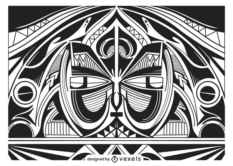 Diseño de fondo tribal