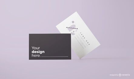 Business cards mockup design