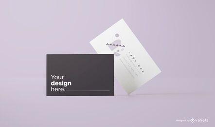 Diseño de maqueta de tarjetas de visita