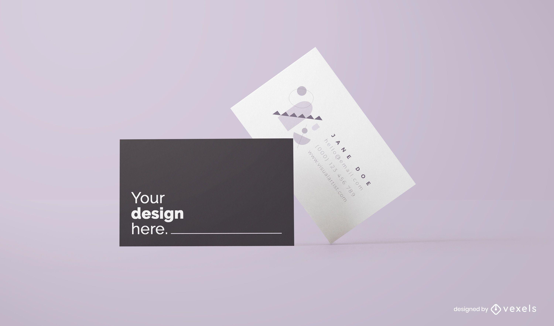 Design de maquete de cartões de visita