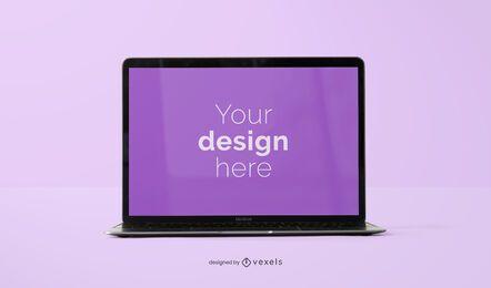 Projeto de maquete de laptop aberto