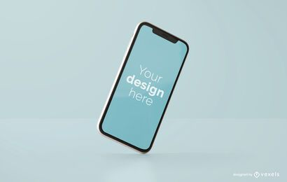 Diseño de maqueta de iphone inclinado