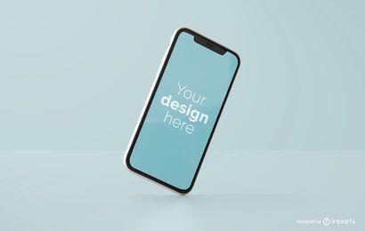 Gekipptes iPhone-Modelldesign