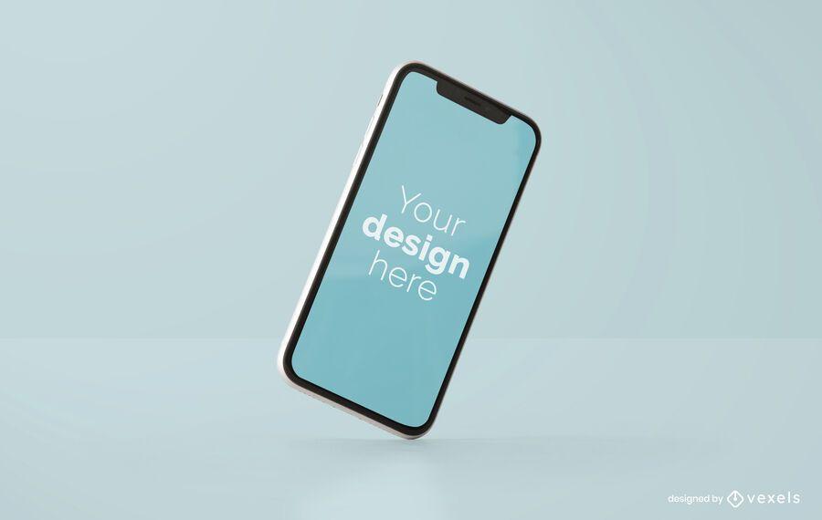 Design de maquete de iphone inclinado
