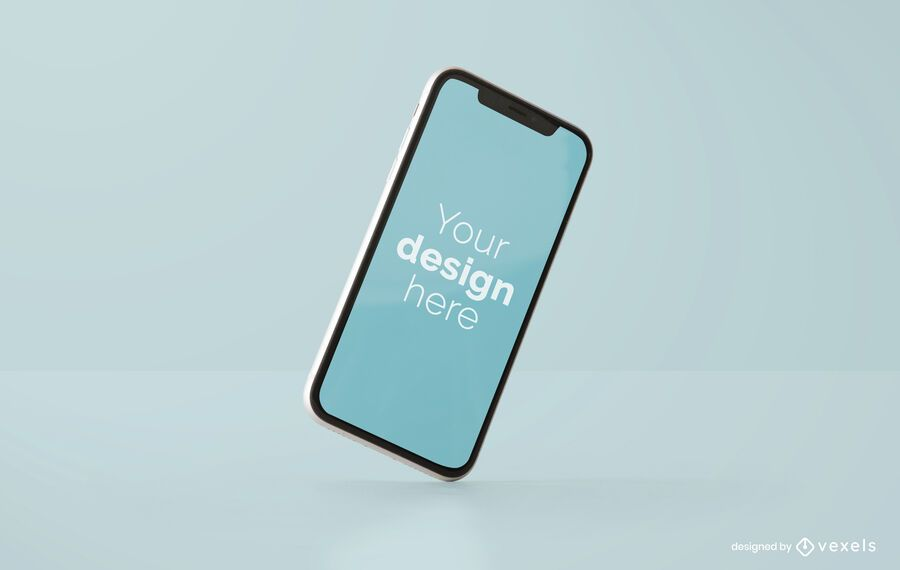 Tilted iphone mockup design