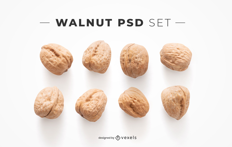 Walnut psd elements for mockups