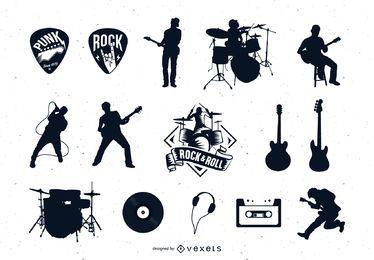 Colección de vectores de rock