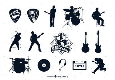 Rock vector set