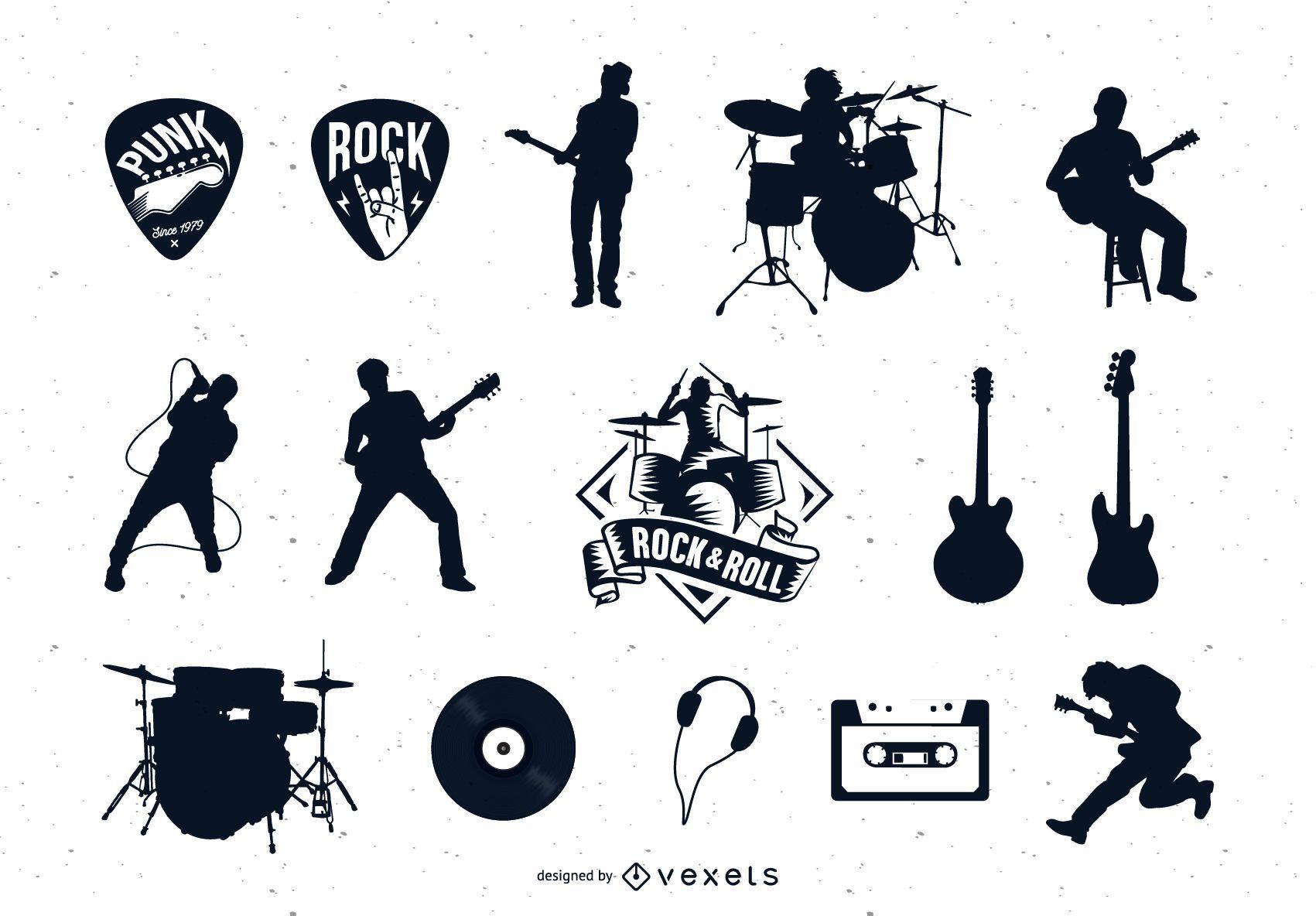 Coleção de vetores de rock