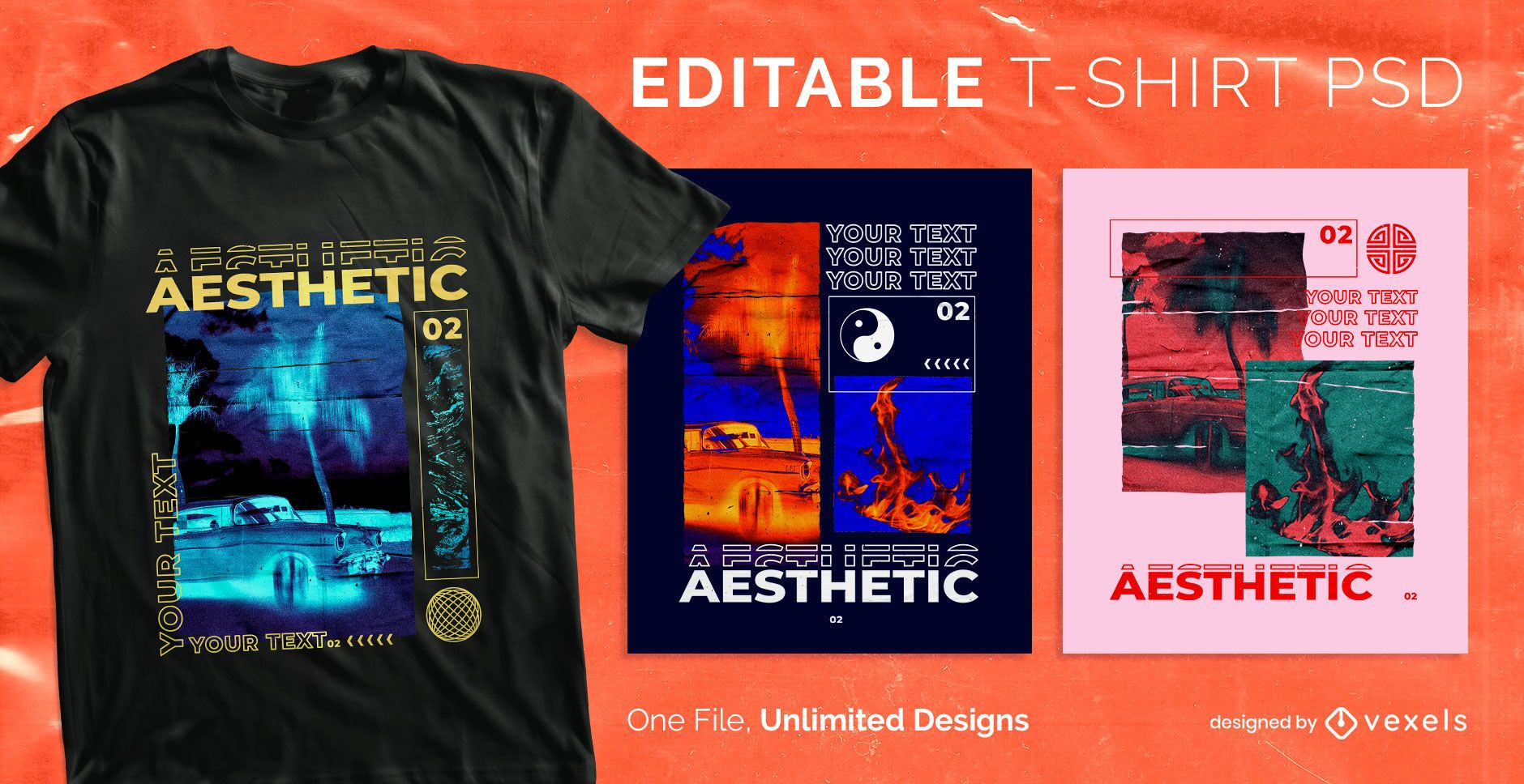 Aesthetic scalable t-shirt psd