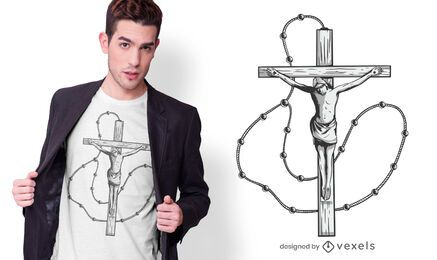 Design de camiseta crucifixo