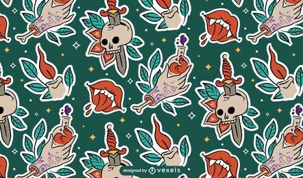 Pegatinas de diseño de patrón de halloween