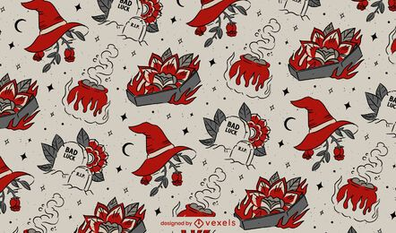 Halloween vintage pattern design