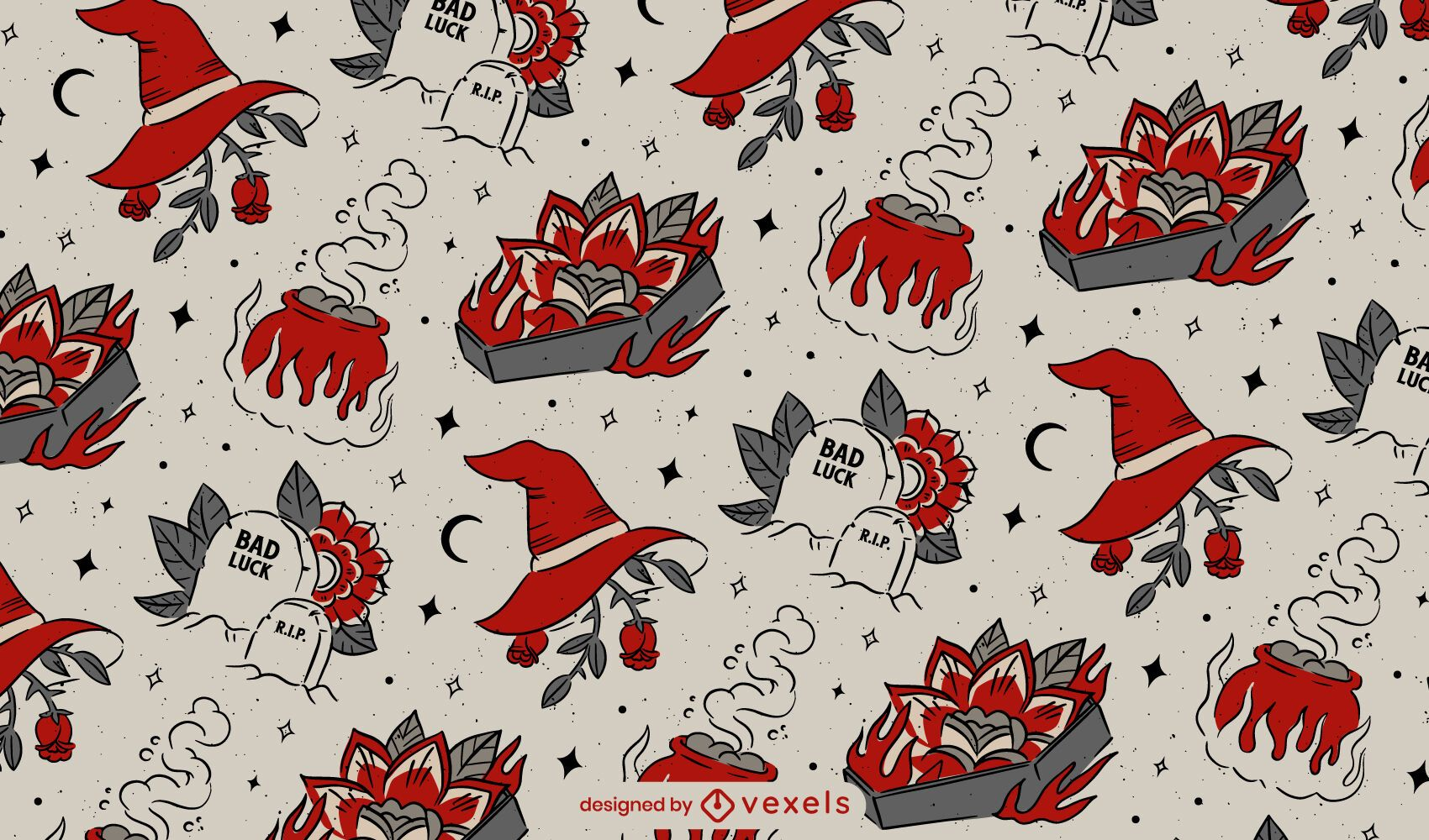 Halloween vintage pattern design