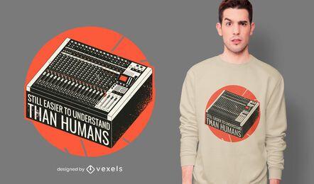 Misturando design de t-shirt de citação de console