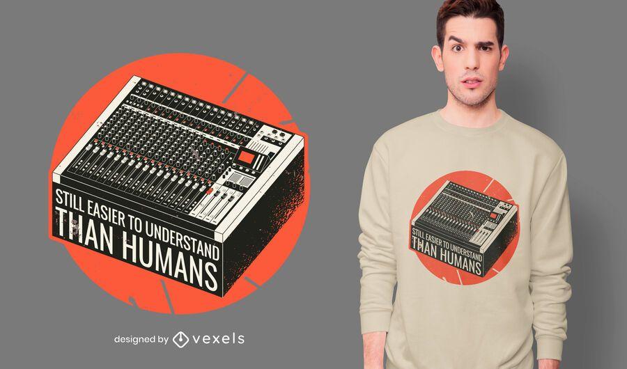 Diseño de camiseta de cita de consola de mezcla