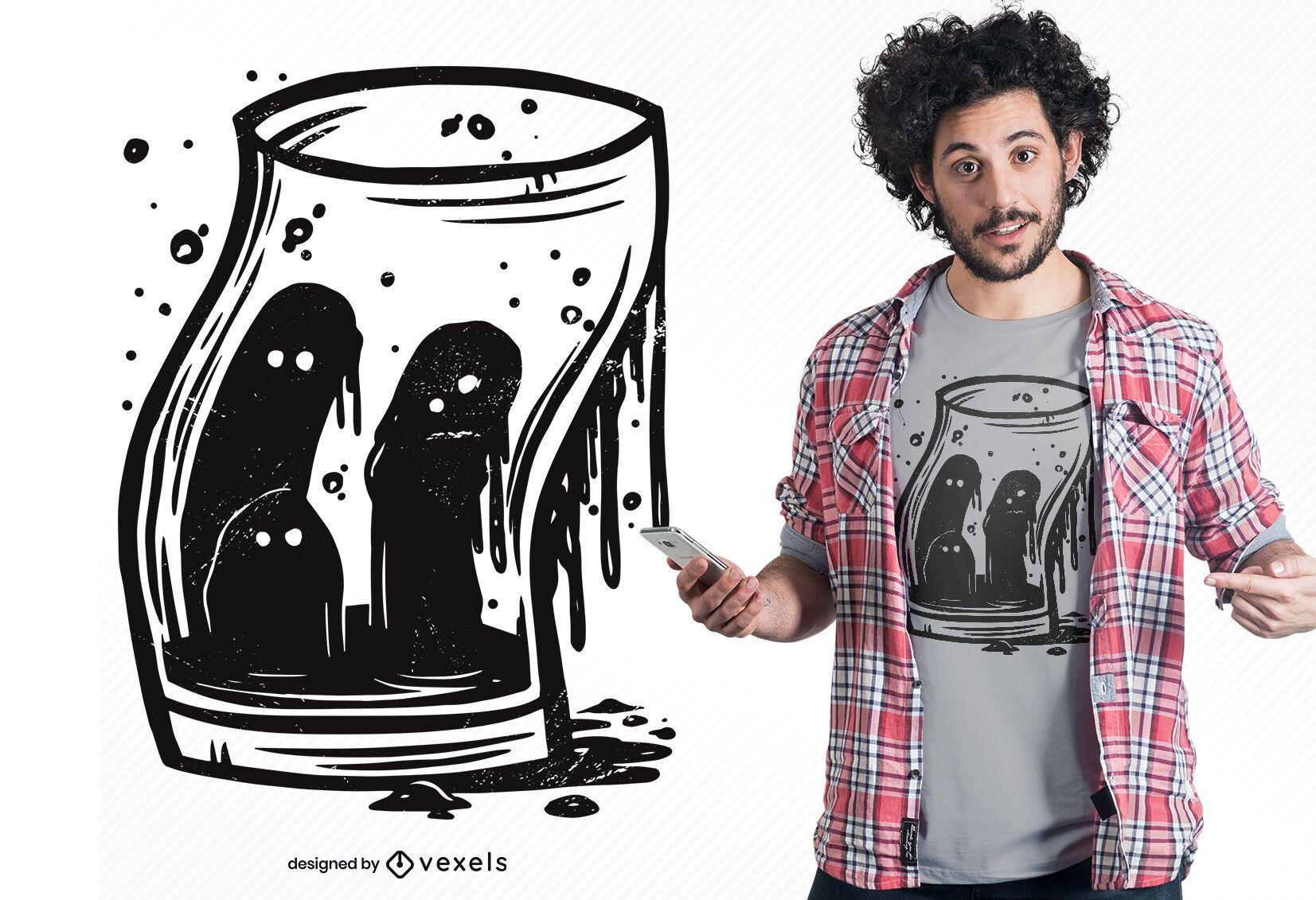 Souls glass t-shirt design