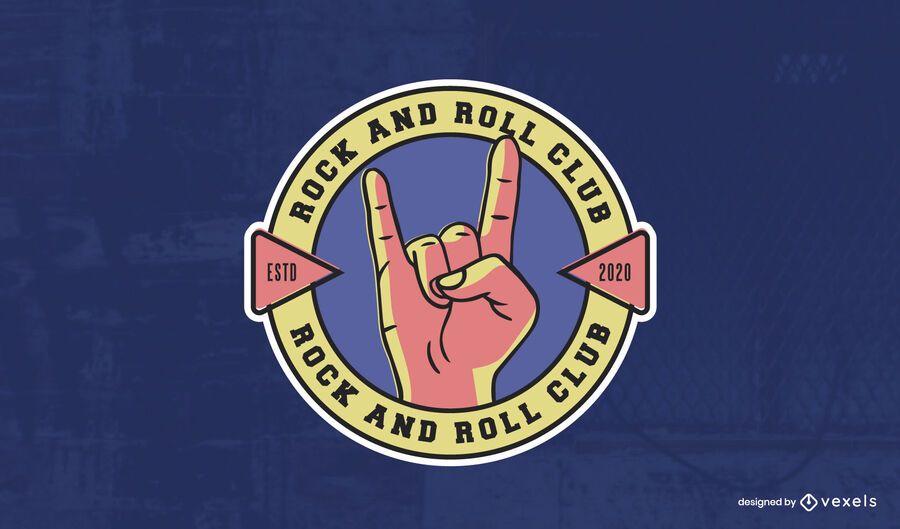 Plantilla de logotipo de club de rock and roll