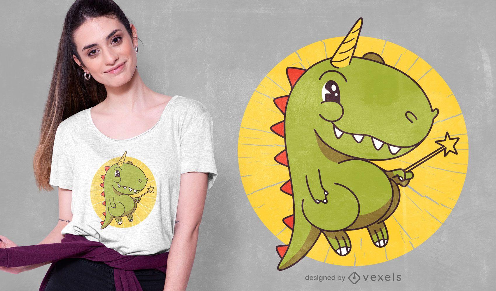 T-rex unicorn t-shirt design