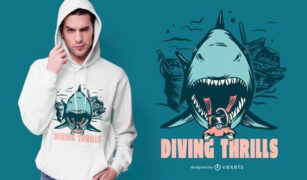 Design de camisetas emocionantes de mergulho