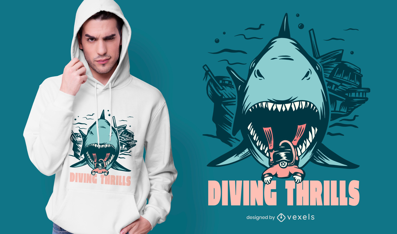 Diving thrills t-shirt design