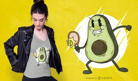 Avocado tennis t-shirt design