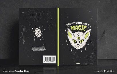 Diseño de portada de libro de Halloween Dark Cat
