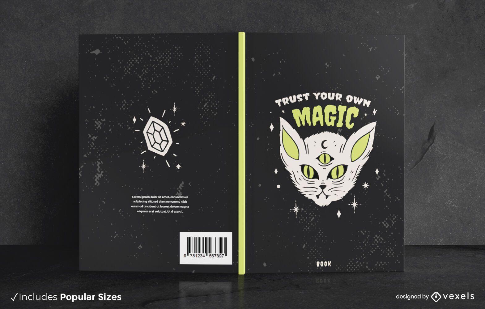 Dark Cat Halloween Book Cover Design