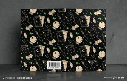 Halloween Spellbook Pattern Book Cover Design