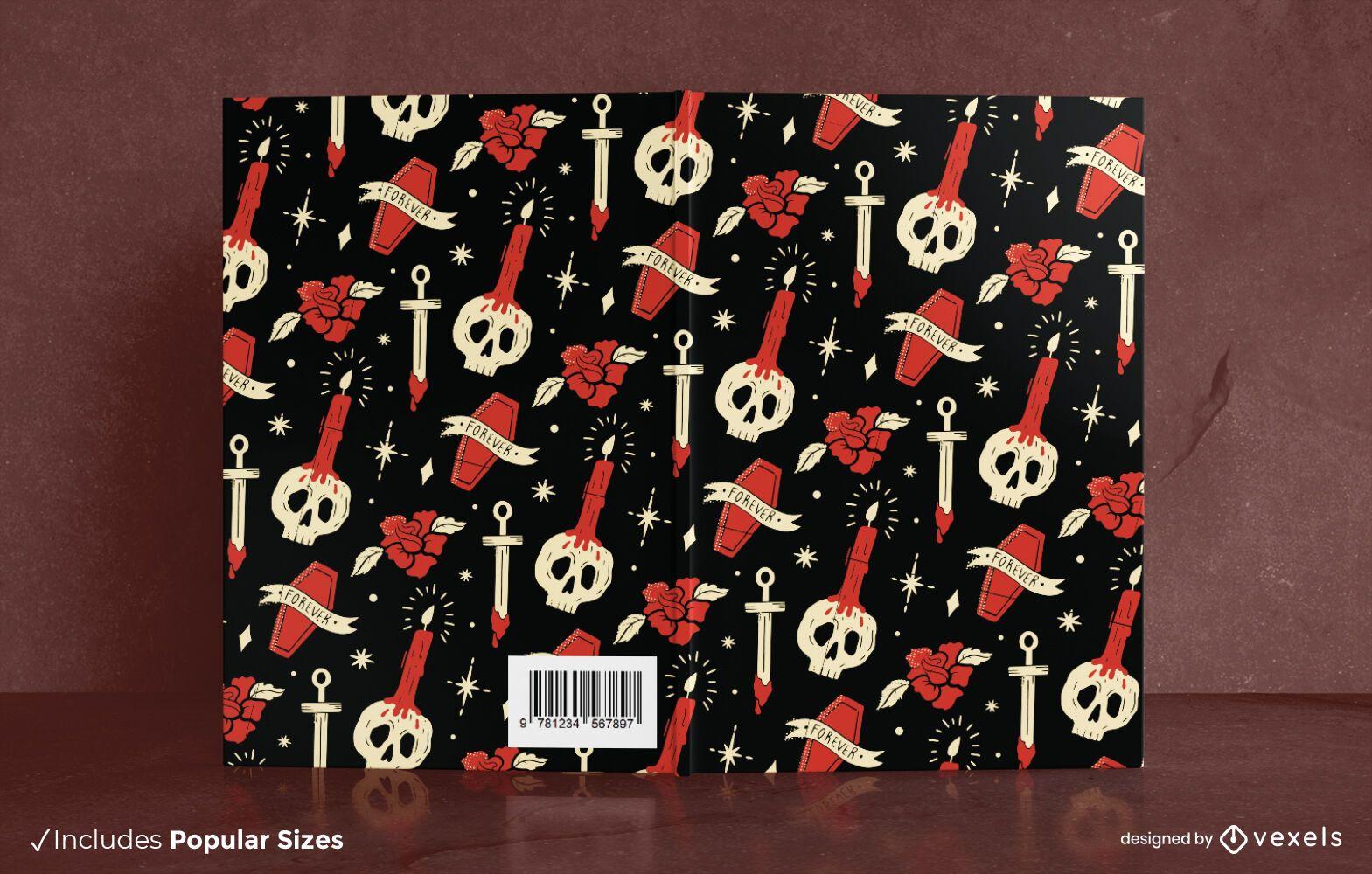 Halloween Skulls Book Cover Design