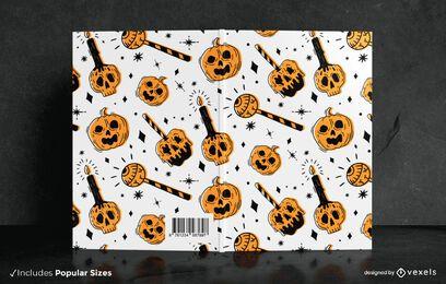 Design de capa de livro de doces ou travessuras
