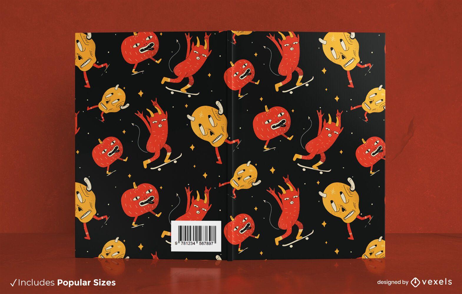 Cartoon Monster Pattern Book Cover Design