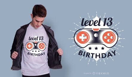 Gamer birthday t-shirt design