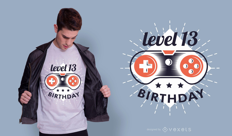Gamer birthday t-shirt design