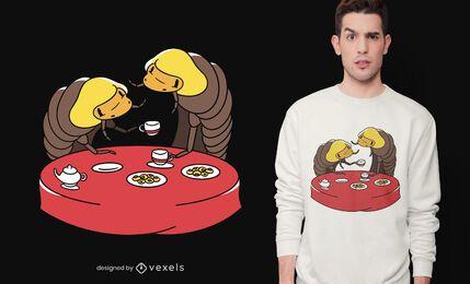 Woodlice Teeparty-T-Shirt Design